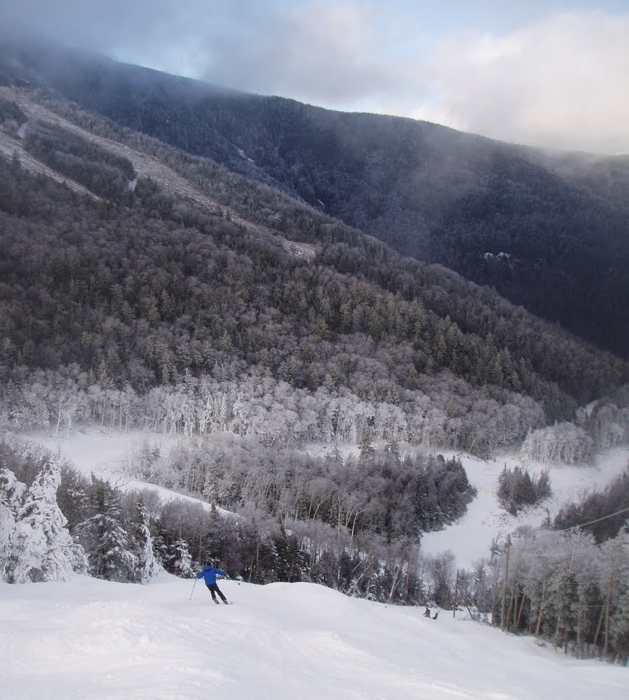 Skiing the Essex trail at Whiteface, December 14, 2011