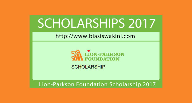 Lion Parkson Foundation Scholarship 2017