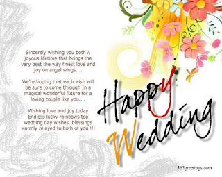 congratulation and best wishes for wedding card