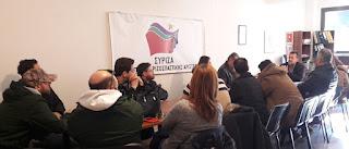 Συνάντηση των εργαζομένων του Φορέα Διαχείρισης Ολύμπου με τον βουλευτή Πιερίας του ΣΥΡΙΖΑ Στέργιο Καστόρη, για το εργασιακό τους μέλλον.
