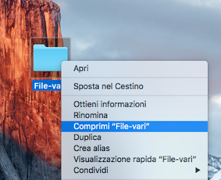 comprimere file mac