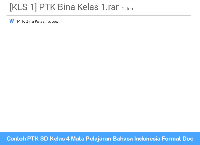 Free Download Ptk Ipa Sd Kelas 4