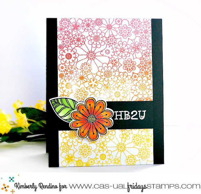birthday card by Kimberly Rendino | CAS-ual Fridays Stamps | handmade card |  papercraft | floral card | kimpletekreativity.blogspot.com