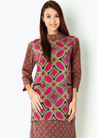 26 model  baju  batik kerja wanita danar hadi  untuk