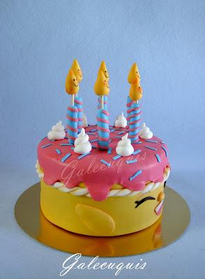 Fondant shopkins Cake