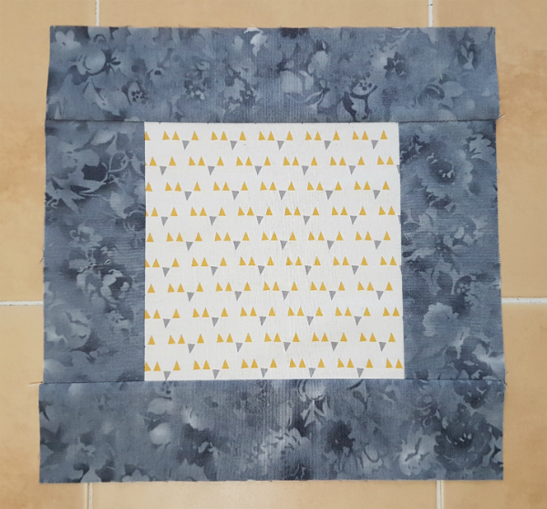 Bordered square quilt block | DevotedQuilter.blogspot.com
