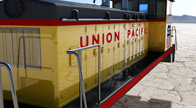 Union Pacific Switcher Diesel Render & 3D Model