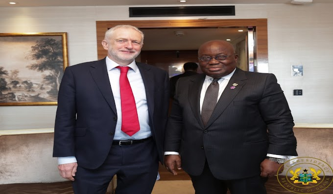 President Akufo-Addo Meets UK Labour Party Leader