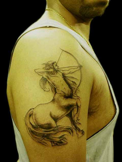 Sagittarius zodiac tattoo design