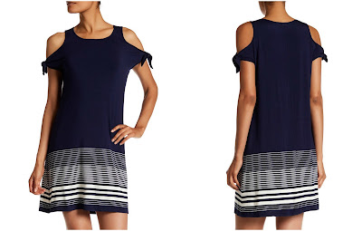Max Studio Tie Sleeve Stripe Dress $33 (reg $98)
