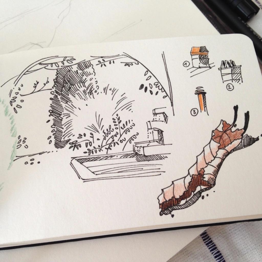 Laurianne chevalier croquis de jardin avec etienne for Croquis jardin