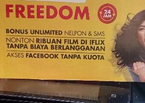 Paket internet freedom combo Indosat M3