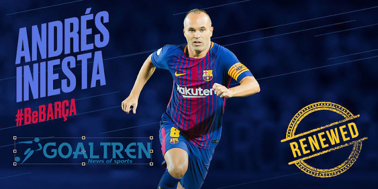Iniesta Officially Extend Lifetime Contract with Barcelona