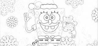 SpongeBob SquarePants Christmas coloring pages holiday.filminspector.com
