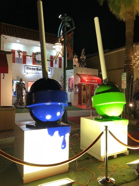 Art installation in downtown Palm Springs