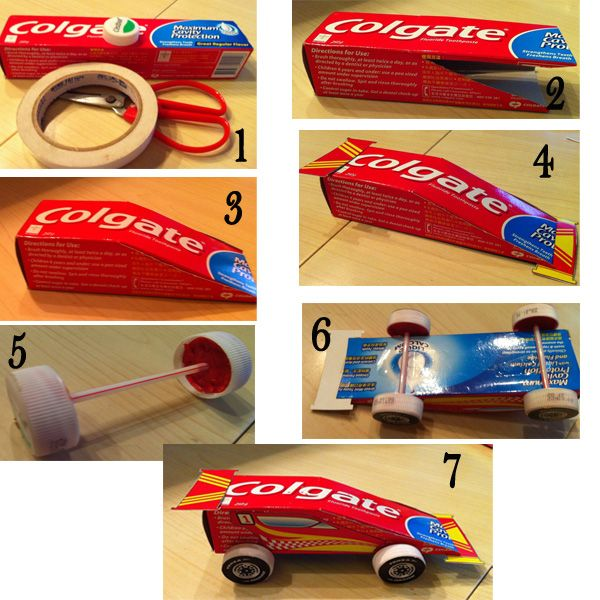 toothpaste art and crafts