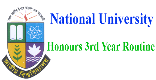 Honours 3rd Year Routine 2019, Honours 3rd Year Exam Routine