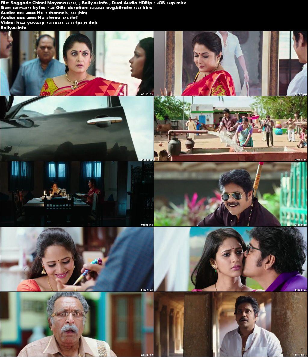 Screen Shoots of Soggade Chinni Nayana 2016 HDRip 1.4Gb Hindi Dual Audio 720p Watch Online Free at Bolly4u.info