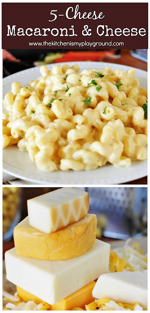 5-Cheese Stovetop Macaroni and Cheese ~ Whip up this creamy mac & cheese with 5 cheeses and just 15 minutes on the stovetop! #macandcheese #macaroniandcheese #cheeselovers  www.thekitchenismyplayground.com