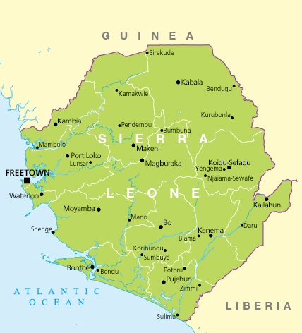 During its civil war, it is estimated that Sierra Leone conflict diamonds represented about 4% of the world's diamond production.