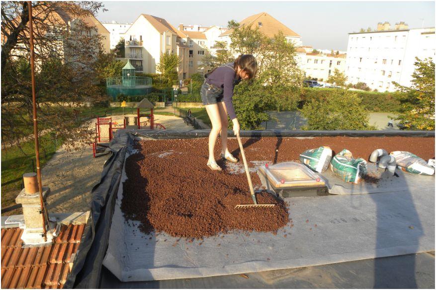 le blog de super castor j175 pose de l 39 enkadrain b10 1s sur le toit. Black Bedroom Furniture Sets. Home Design Ideas