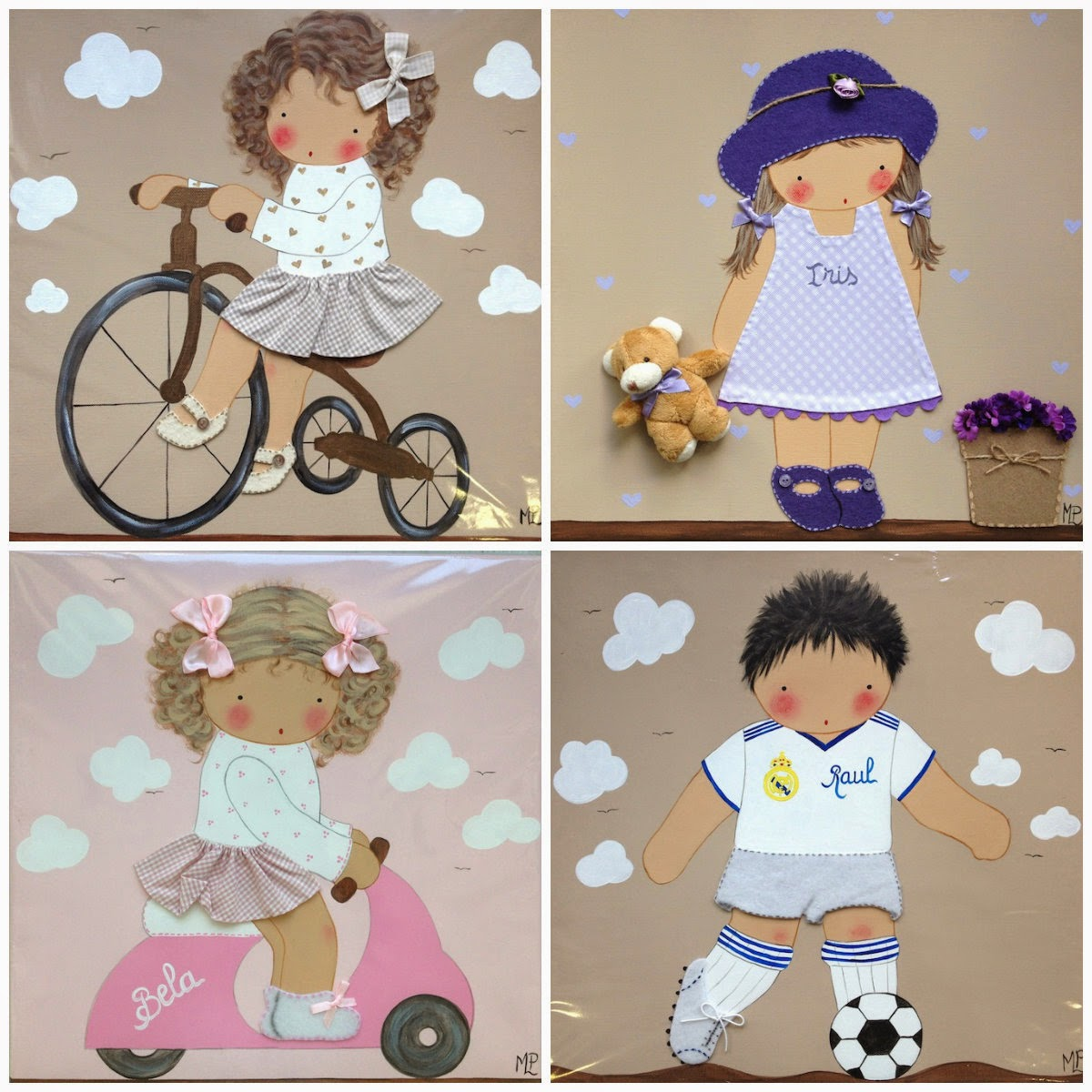 decorar con cuadros infantiles
