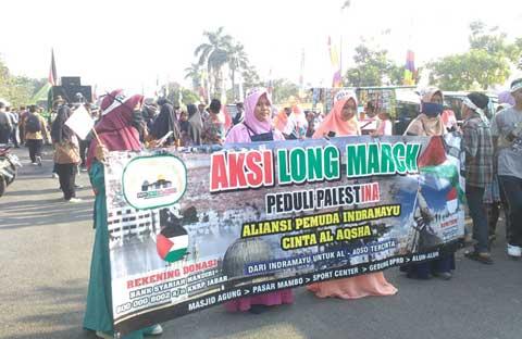 aliansi pemuda cinta alaqsa indramayu long march
