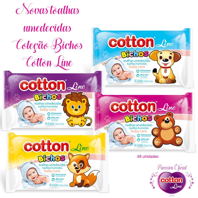 Cotton Line Toalhas Umedecidas Coleção Bichos ganha nova embalagem