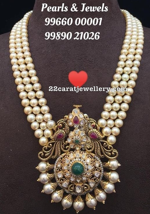 Three Layer Pearls Haram by Amarsons Jewels