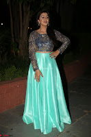 Nikki Galrani in Green Skirt  Top at Marakathamani music launch ~  Exclusive (2).JPG