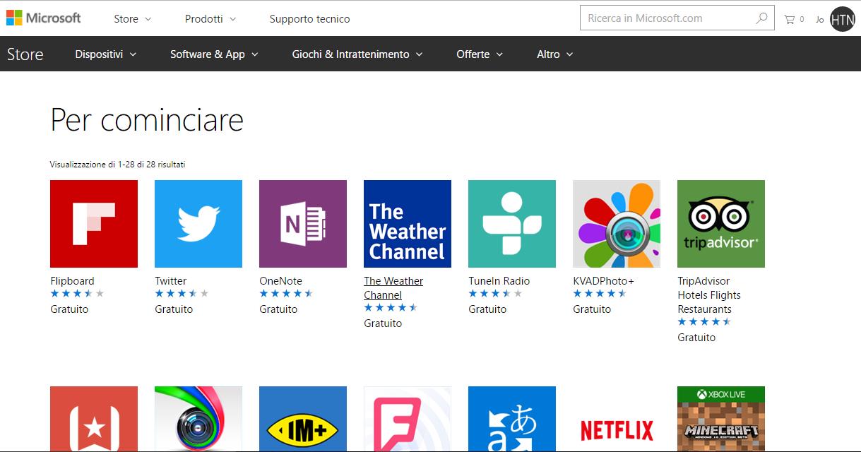"""Nuovo PC Windows 10? """"Per cominciare"""" è la raccolta Microsoft con le App essenziali HTNovo"""