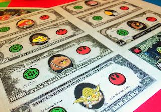 Dinero de Angry Birds para Imprimir Gratis.