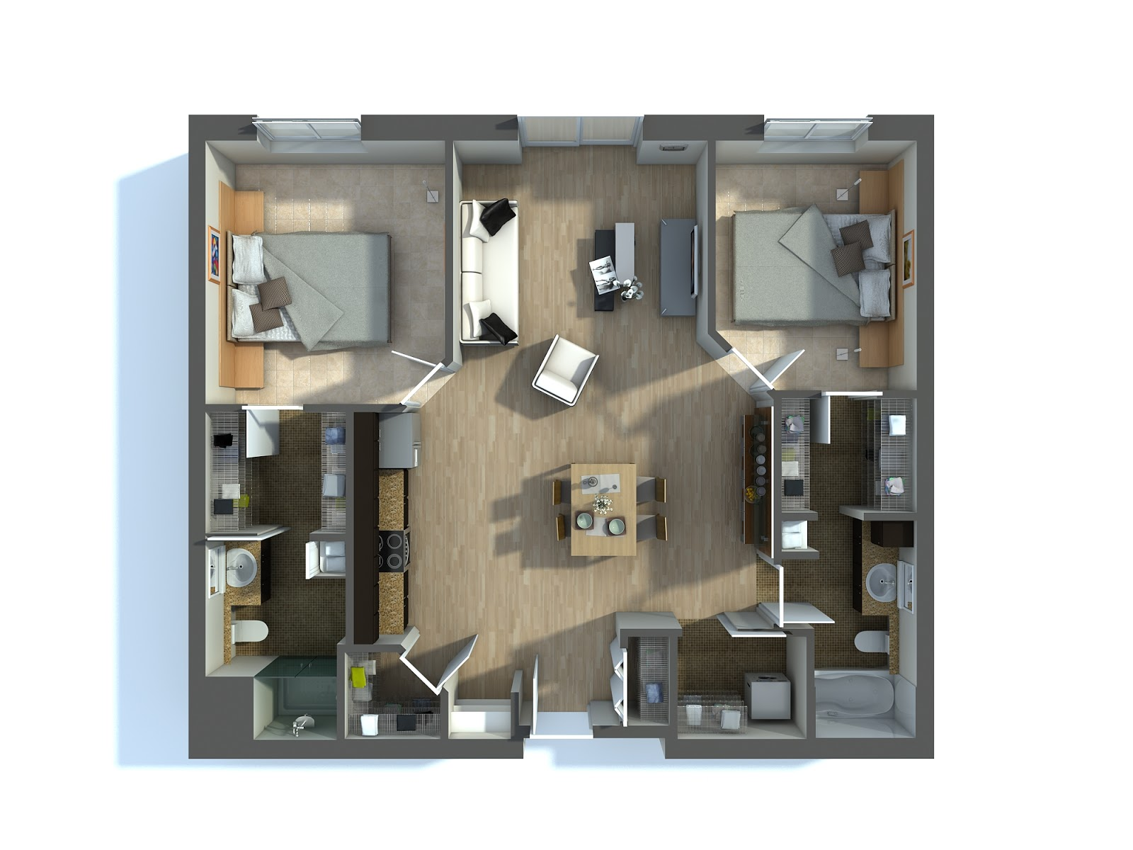 Optimal utilization of resources with 2D residential building plans