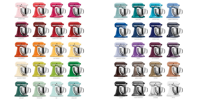 KitchenAid Stand mixer colors