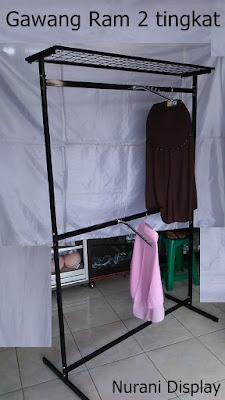 Gantungan baju Gawang Ram 2 Susun