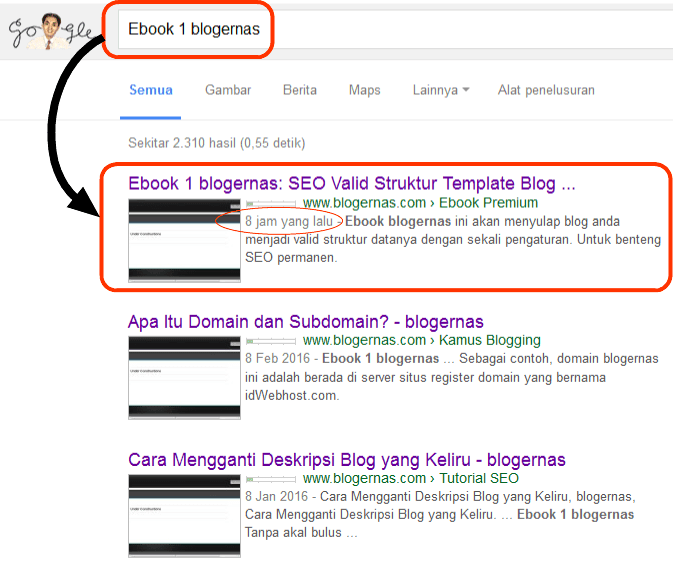 Ebook 1 blogernas: SEO Valid Struktur Template Blog