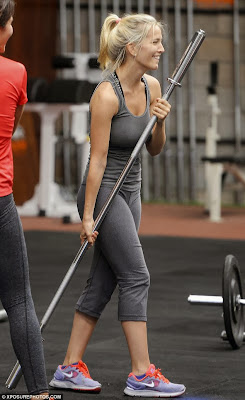 celebrity fitness girl Luisana Lopilato takes to gym with a smile