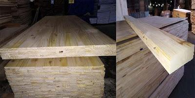 Tấm ván gỗ Thông ghép tấm và ghép ốp
