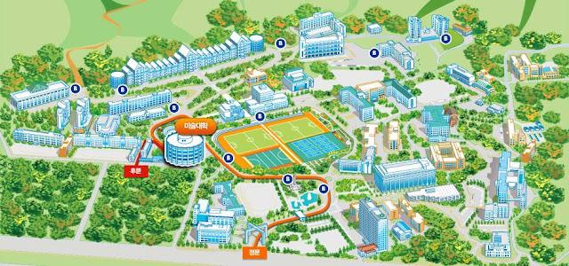 Tổng quan sơ đồ trường đại học Chosun
