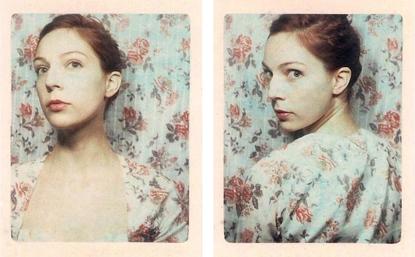 two photobooth strips by artist Meags Fitzgerald from her Garden State project