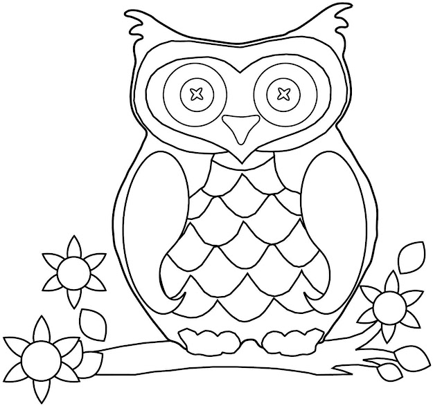Cartoon Girl Owl Coloring Pages  Coloring Pages For All Ages  Coloring  Home Pages