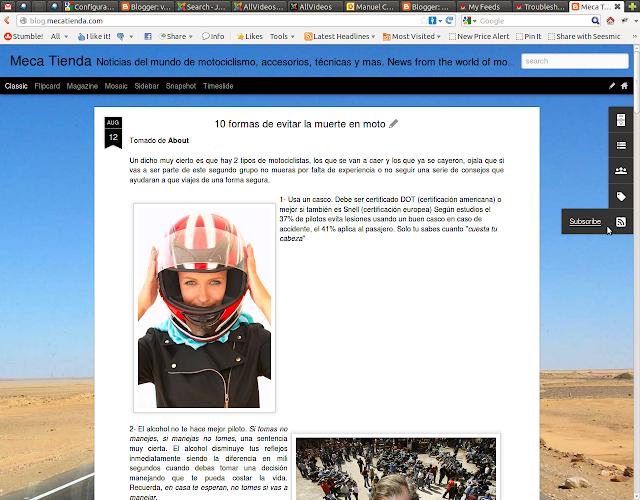 Asi se ve el nuevo boton de RSS en blogger