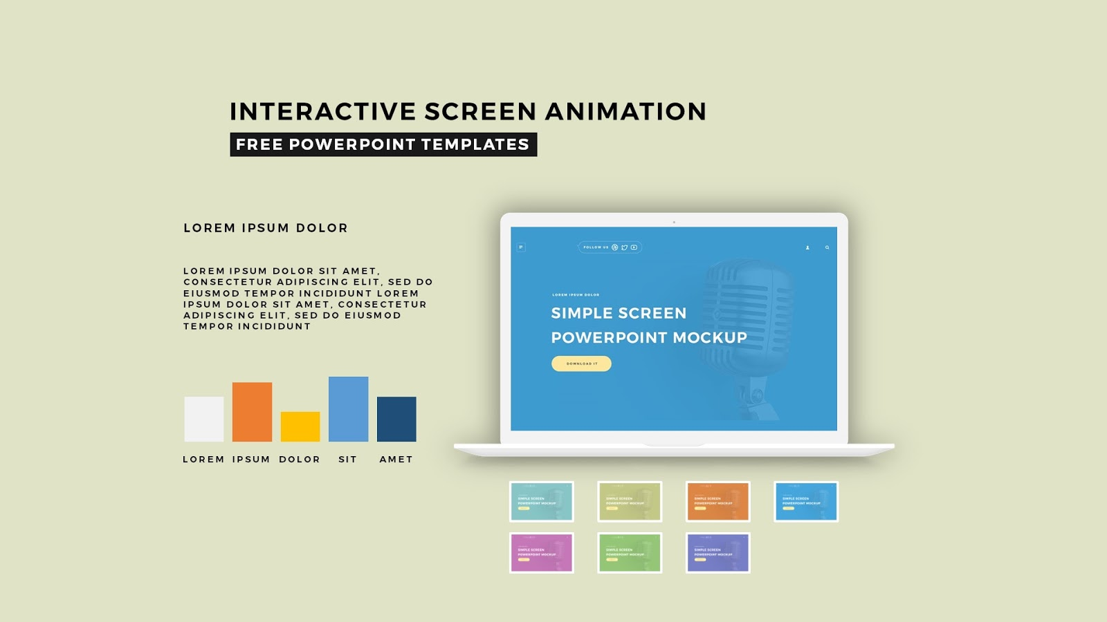 Interactive screen animation powerpoint template infographicon interactive screen animation powerpoint template slide 4 toneelgroepblik Image collections