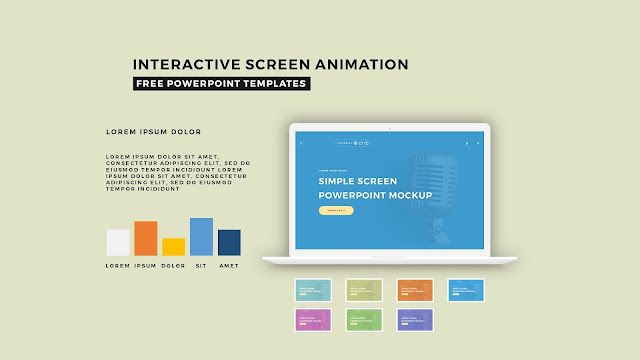 Interactive Screen Animation PowerPoint Template Slide 4