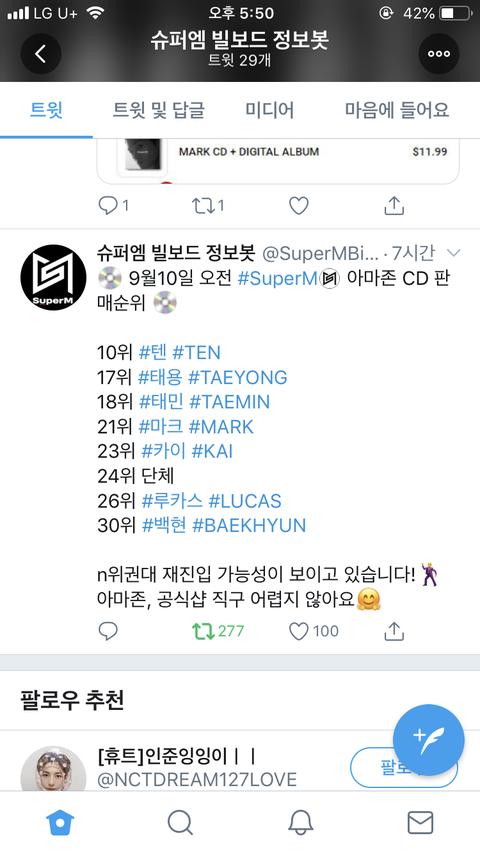 [PANN] Super M üyelerinin bireysel albümlerinin satışı
