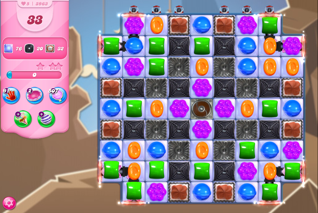 Candy Crush Saga level 3963