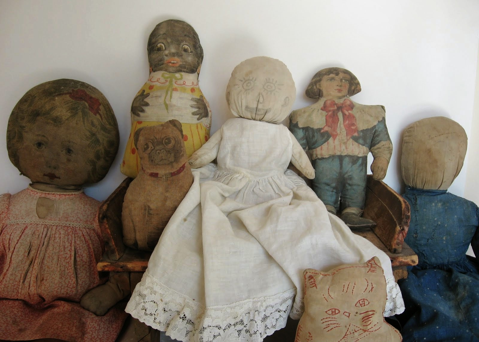 Antique Cloth Dolls & More
