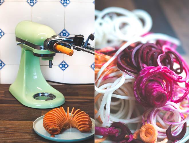 Ofengeröstete Gemüsespiralen und Mini-Moments