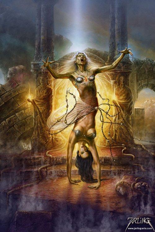 Uwe Jarling deviantart ilustrações fantasia ficção terror heavy metal vintage nostálgico