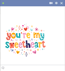 You're My Sweetheart Emoticon